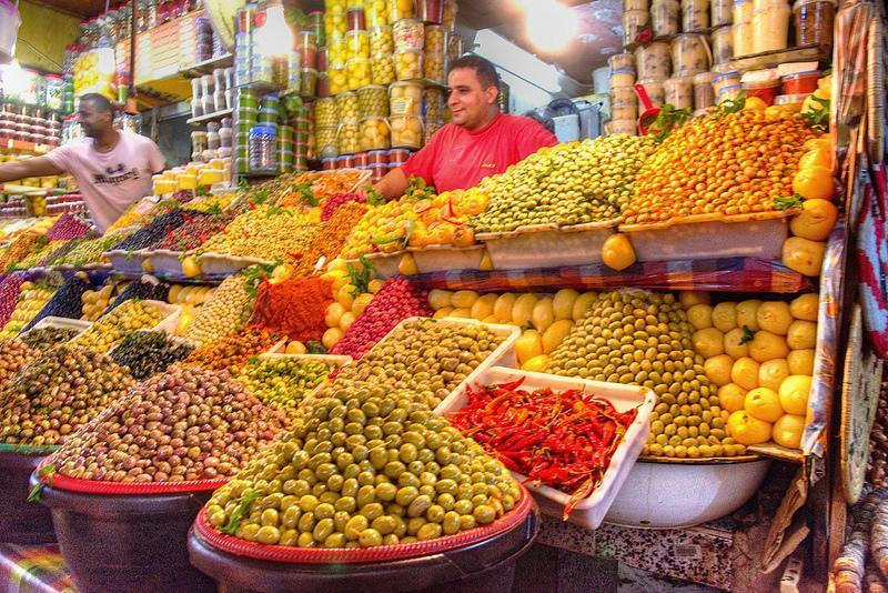 The olive stall in Meknes