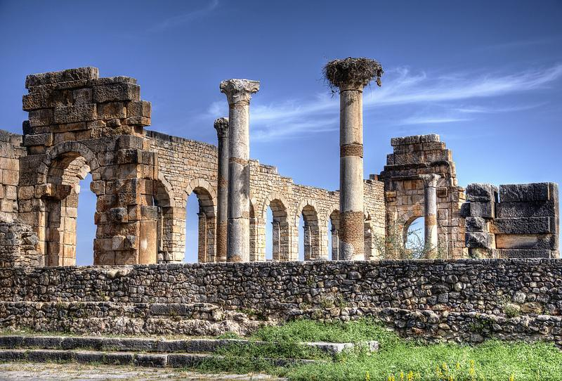 Columns and arches in Volubilis