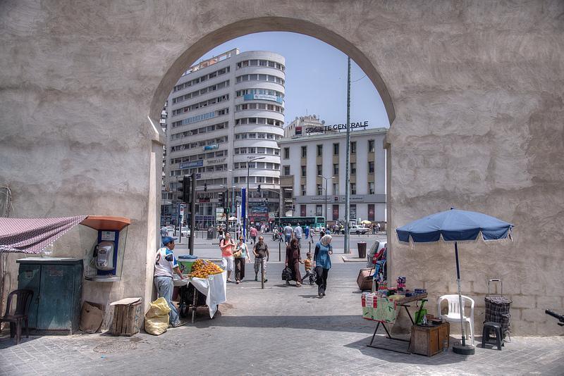 Casablanca from the medina