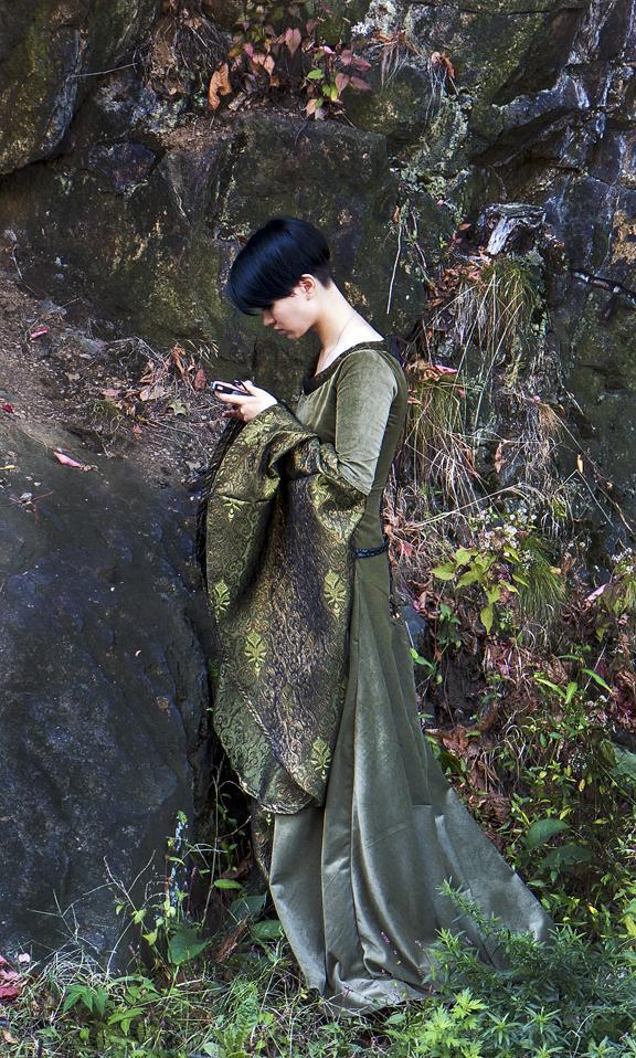 woman near the rocks web